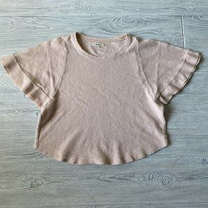 Madewell Casual Crop Shirt Womens Size Small Pink